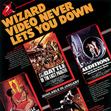 Click here to see vintage Wizard sell sheets & brochures from 1980!
